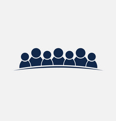 people group of 7 persons friendship or teamwork vector image
