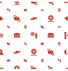 Planet icons pattern seamless white background vector