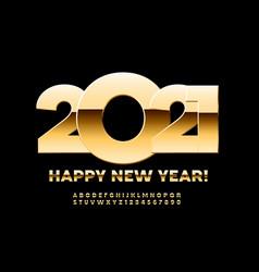 premium greeting card happy new year 2021 vector image