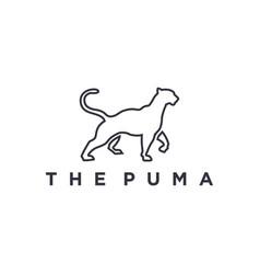 Puma logo modern animal logo icon design vector