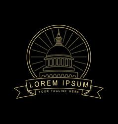 Sacramento logo line art style design vector