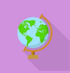 school globe icon flat style vector image