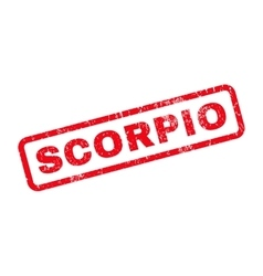 Scorpio Rubber Stamp vector