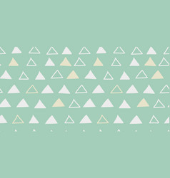 Seamless hand drawn geometric triangles vector