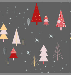 seamless pattern with sparkles in the forest vector image