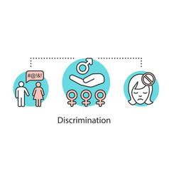 sex discrimination concept icon vector image