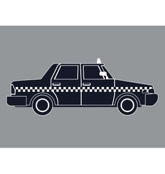 Silhouette taxi car side view vector