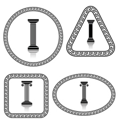 Silhouettes of columns vector