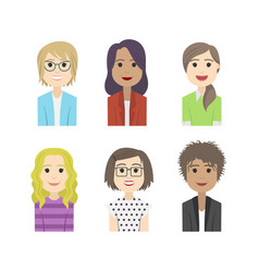 simple people avatar woman fashion character vector image