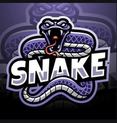 Snake esport mascot logo vector