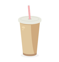 soda icon fastfood isolated sweet food and junk vector image