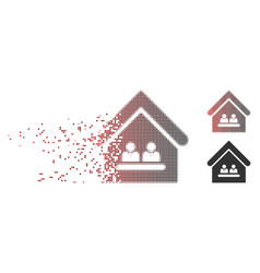 sparkle pixel halftone management office icon vector image
