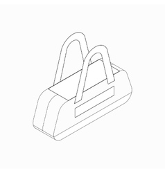 Sports bag icon isometric 3d style vector