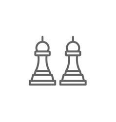 Strategy chess outline icon elements business vector