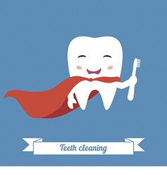 Teeth cleaning vector