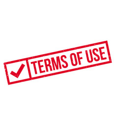 terms of use rubber stamp vector image