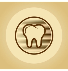Tooth logo in retro style vector