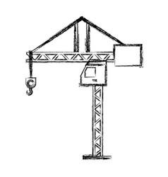 tower crane symbol vector image