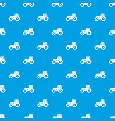tractor pattern seamless blue vector image