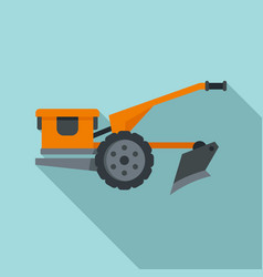 Walking tractor icon flat style vector