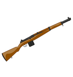 Weapon second world war american carbine vector