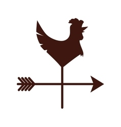 weathercock or vane icon image vector image