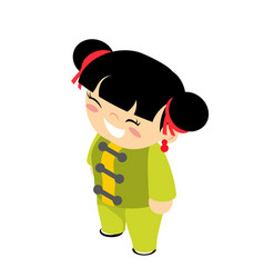 wushu traditional kid wear costume chinese kungfu vector image