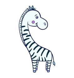 Zebra cartoon Isolated vector image