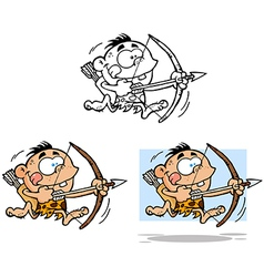 Cave Boy Collection vector image vector image
