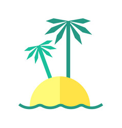 coloured summer of an island vector image vector image