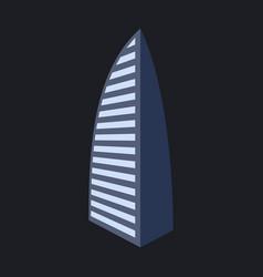 Dubai uae of burj al arab hotel burj al arab is vector