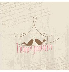 honeymoon love birds card vector image