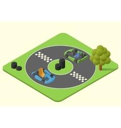 kart sport car vector image vector image
