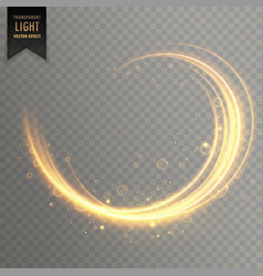 transparent swirl golden light effect background vector image vector image