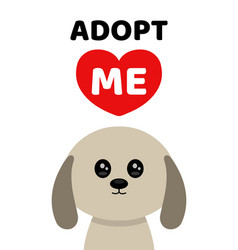 adopt me dont buy dog pet adoption vector image vector image