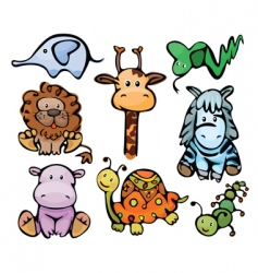 cute baby animals vector image vector image