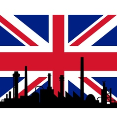 Industry and flag of Great Britain vector image vector image