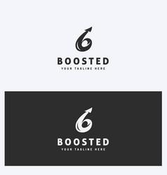 Arrow business logo design template vector