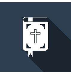 Bible icon with long shadow vector image