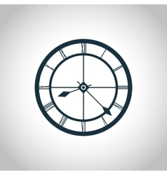 Clock simple icon vector image vector image