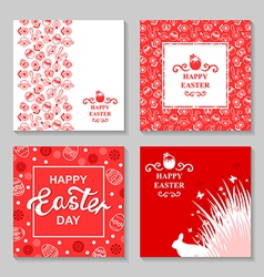 easter card4 set vector image vector image