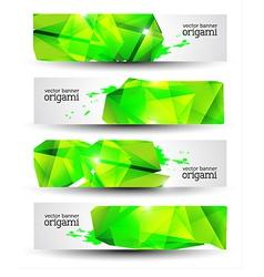Geometrical Origami Banner Set vector image