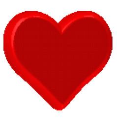 heart halftone icon vector image vector image