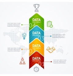 Infographic Timeline with Arrow Vertical vector image