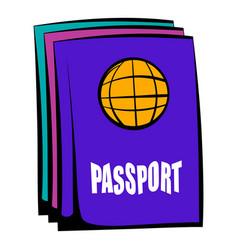 passport icon cartoon vector image