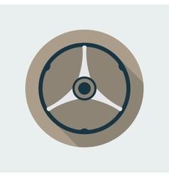 Retro car steering wheel icon flat symbol vector
