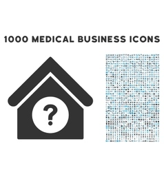 Status Building Icon with 1000 Medical Business vector image