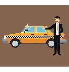 cab car driver work service public vector image