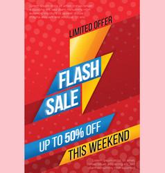 Flash sale price offer deal labels vector