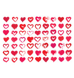 heart shapes vector image